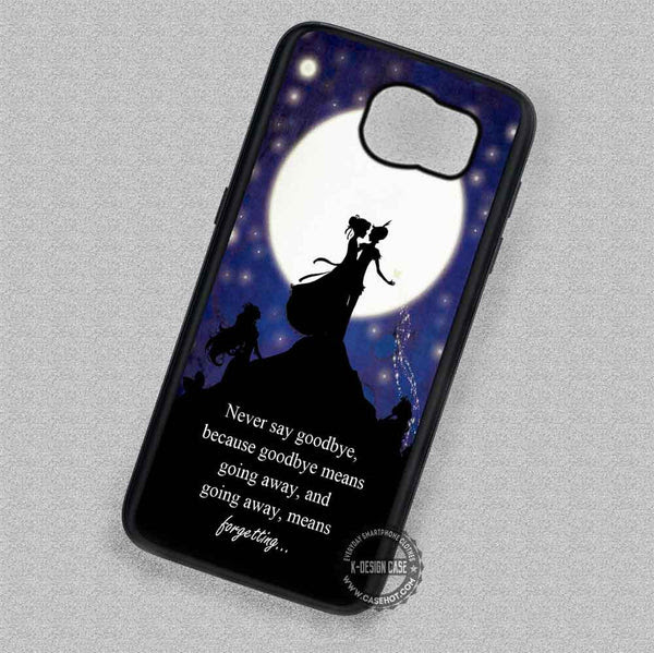 Moon Quotes Peter Pan Wendy Tinkerbell Samsung Galaxy S7 S6 S5