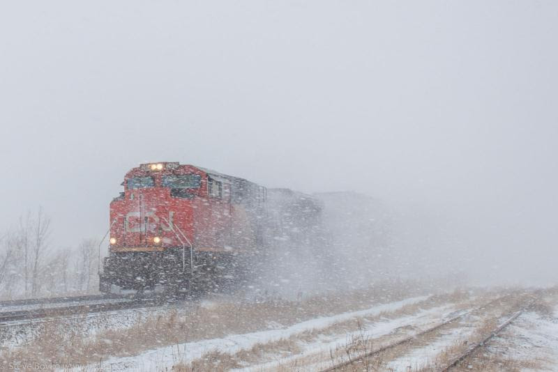 CN 8018 in Winnipeg