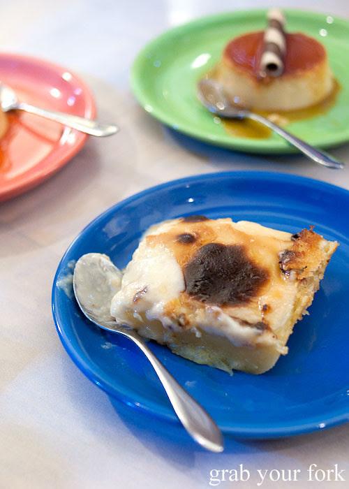 cassava cake dessert at lamesa phillipine cuisine haymarket chinatown