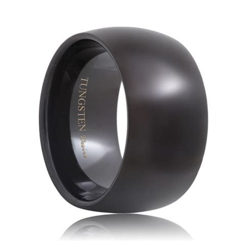 reno  mm extra wide black tungsten wedding band