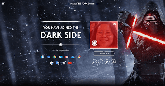 'Star Wars' promo turns your Google account to the dark side