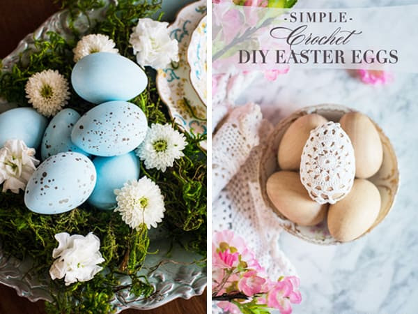 Easy DIY Easter Egg Crafts that are budget friendly from Celebrating Everyday Life blog