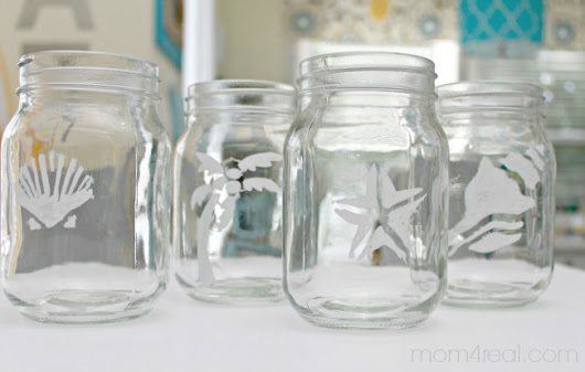 Stenciled Mason Jars and Lipton Sweet Tea - Mom 4 Real