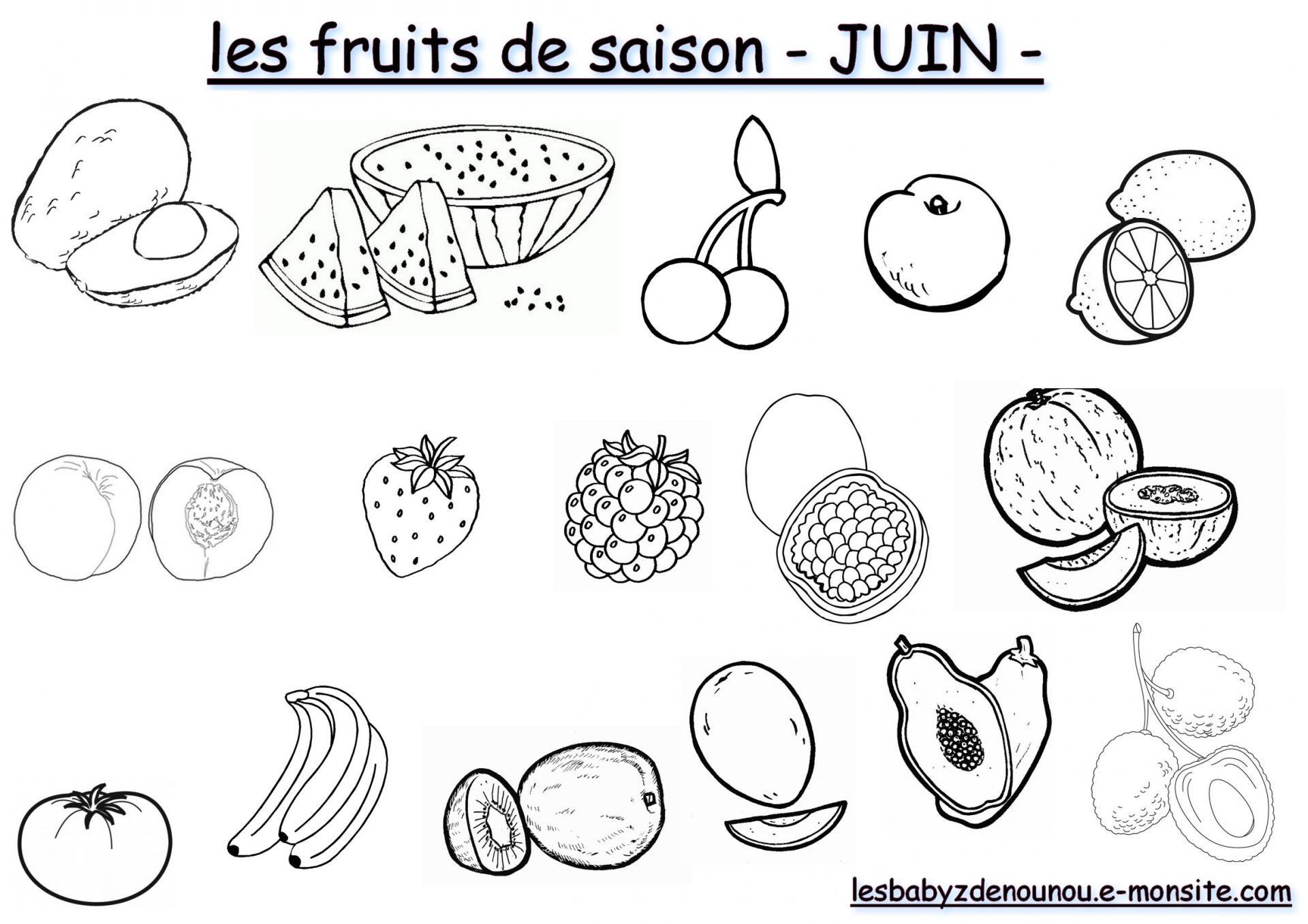 Coloriage Les Fruits Et Légumes De Saison Mois De Juin