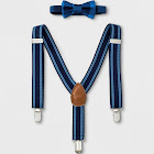 Baby Boys' Bowtie and Suspenders Set - Cloud Island Blue, Boy's