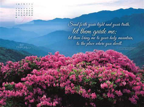 June 2013   Psalm 43:3 NIV Desktop Calendar  Free Monthly