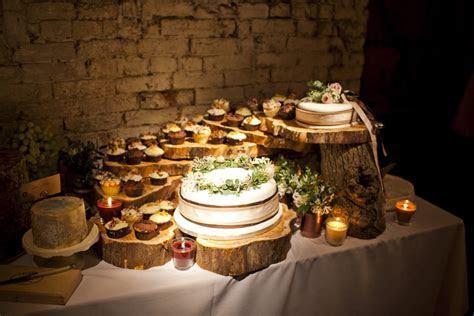 Tree decorating ideas, rustic wedding cake table