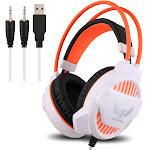 ovann g1 professional esport gaming stereo bass headset headphone earphone over ear 3.5mm & usb wired with microphone led light for pc computer la