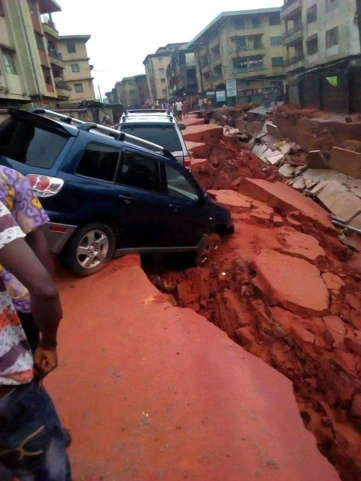 Disaster In Mgbemena Street Obosi After Yesterday's Rain In Anambra (Photos)