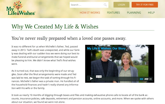 Websites help with end-of-life planning