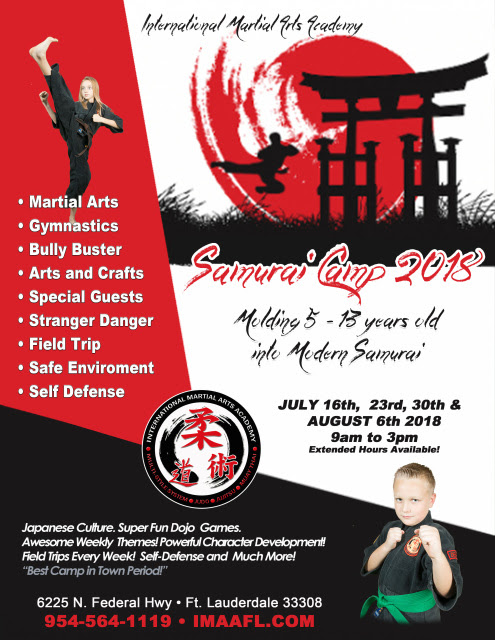 IMAA SAMURAI SUMMER CAMP 2018