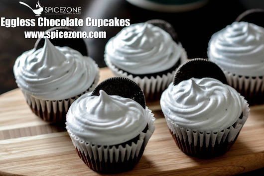 Eggless Chocolate Cupcakes - The Spice Zone