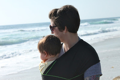 Photoshoot Fun: Babywearing on the Beach
