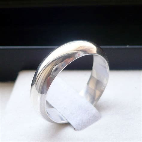 6mm 925 STERLING SILVER MANS WEDDING BAND RING SIZES 5 13