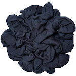 threddies Navy Cotton Scrunchies, 10 Piece Pack