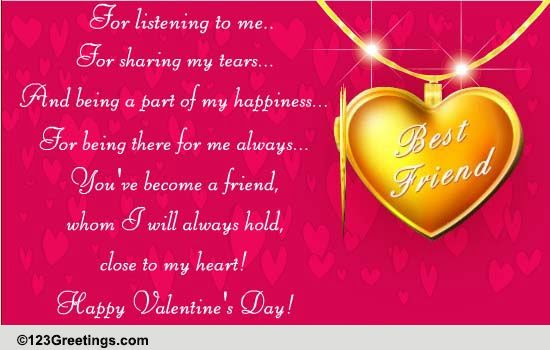 Heartfelt Valentines Day Wishes Free Friends Ecards Greeting