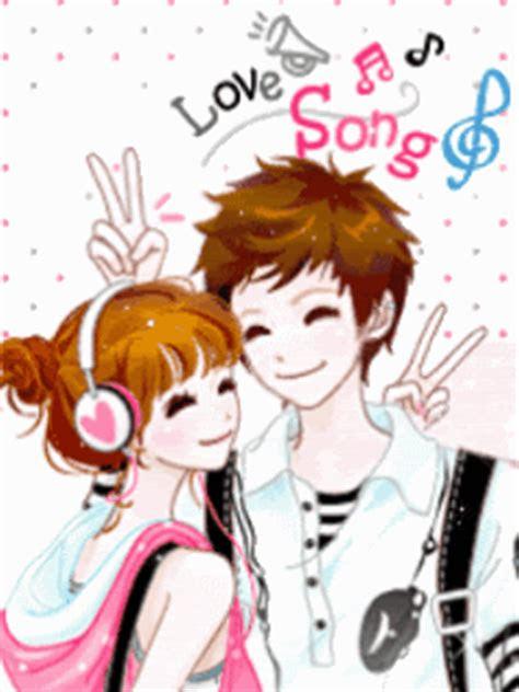 dp bbm bergerak romantis korea couple lucu pool