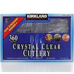 Kirkland Signature Crystal Clear Cutlery 360