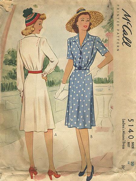 1940s Vintage Sewing Pattern