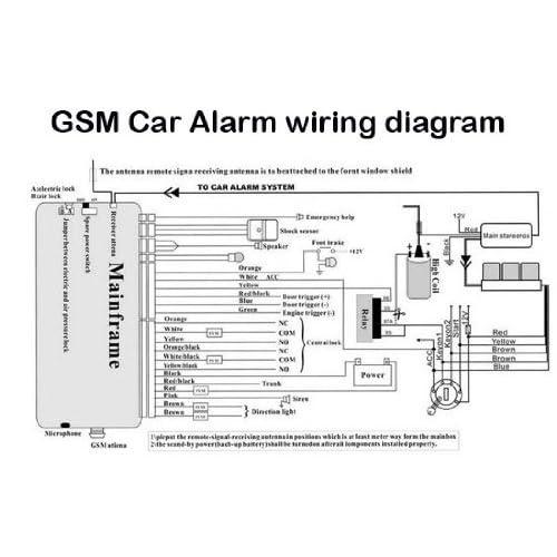 Car Alarm Wiring Diagram Generic