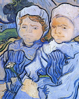 Dos aldeanitas de Vincent Van Gogh