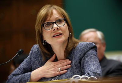 GM Chief Executive Officer Mary Barra testifies during a House Energy and Commerce hearing on Capitol Hill in Washington April 1, 2014. Congress is trying to establish who is to blame for at least 13 auto-related deaths over the past decade, as public hearings are held over two days on General Motors Co's slow response to defective ignition switches in cars.