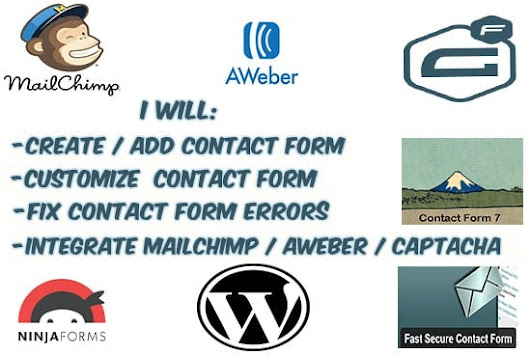 I will create,add, customize and fix contact form