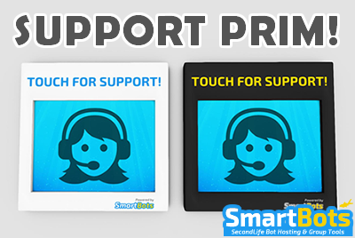 Support Prim: configurable support inviter :: SmartBots :: Second Life bot hosting, direct group inviter & group advertising