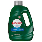 Cascade Advanced Power Liquid Dishwasher Detergent, Fresh Scent, 125 fl oz