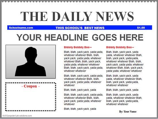 Newspaper Headline Template For Word Pdf Template