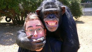Danny and a chimp
