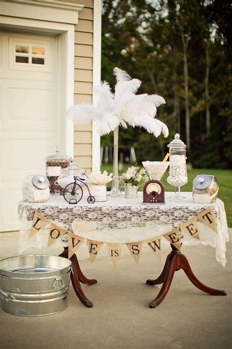 Kara's Party Ideas Vintage Backyard Wedding Table Party