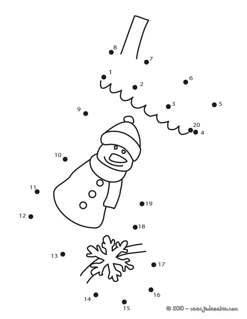 Schneemann und Eisblume