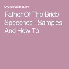father  bride speech ideas  pinterest groom