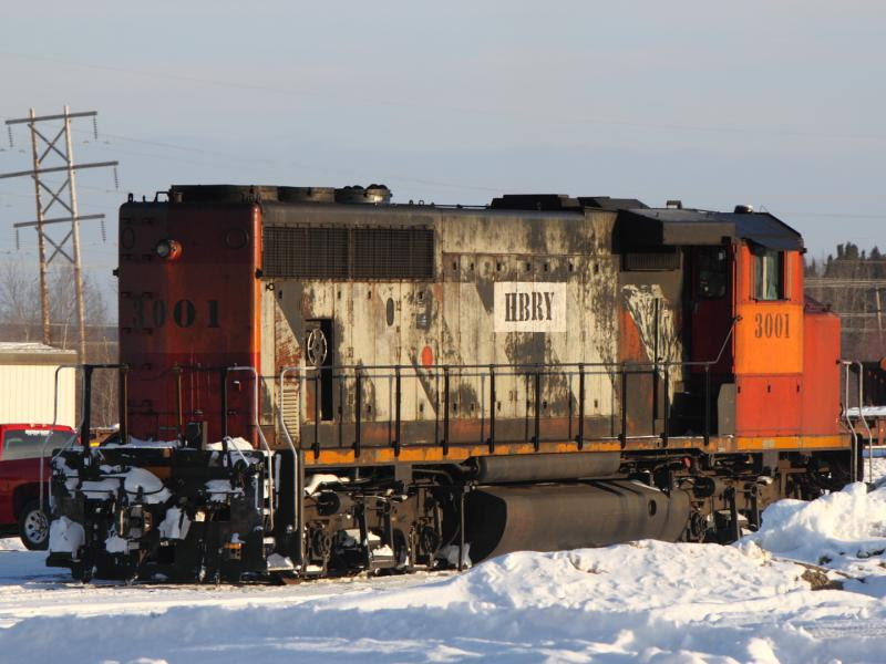 Hudson Bay Railway 3001 in Thompson