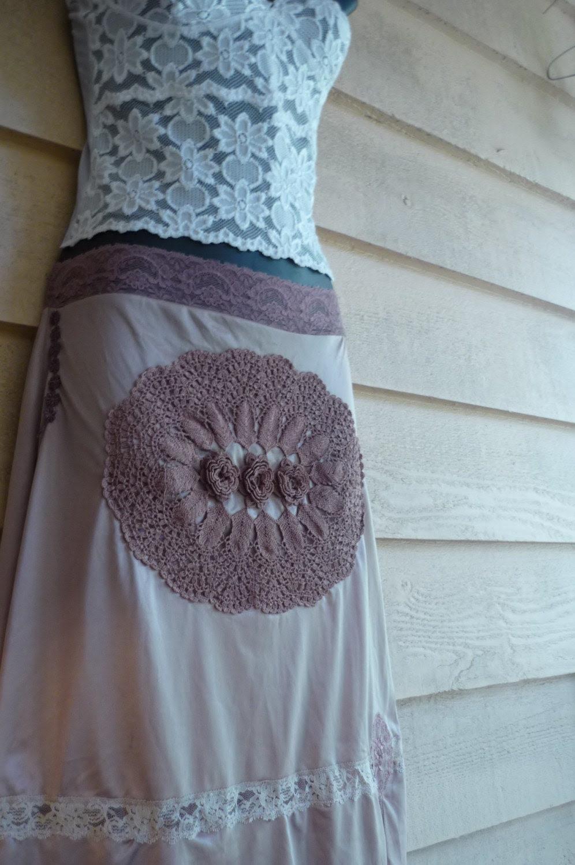 Cafe Au Lait Hand-dyed Vintage Slip Skirt