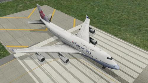 Default XP11 B747-400 China Airlines Livery