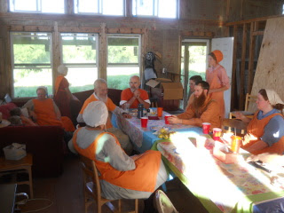 Fellowshipping After the Orange Day Meal