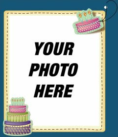 Edit a birthday card by adding a digital picture frame to this ...