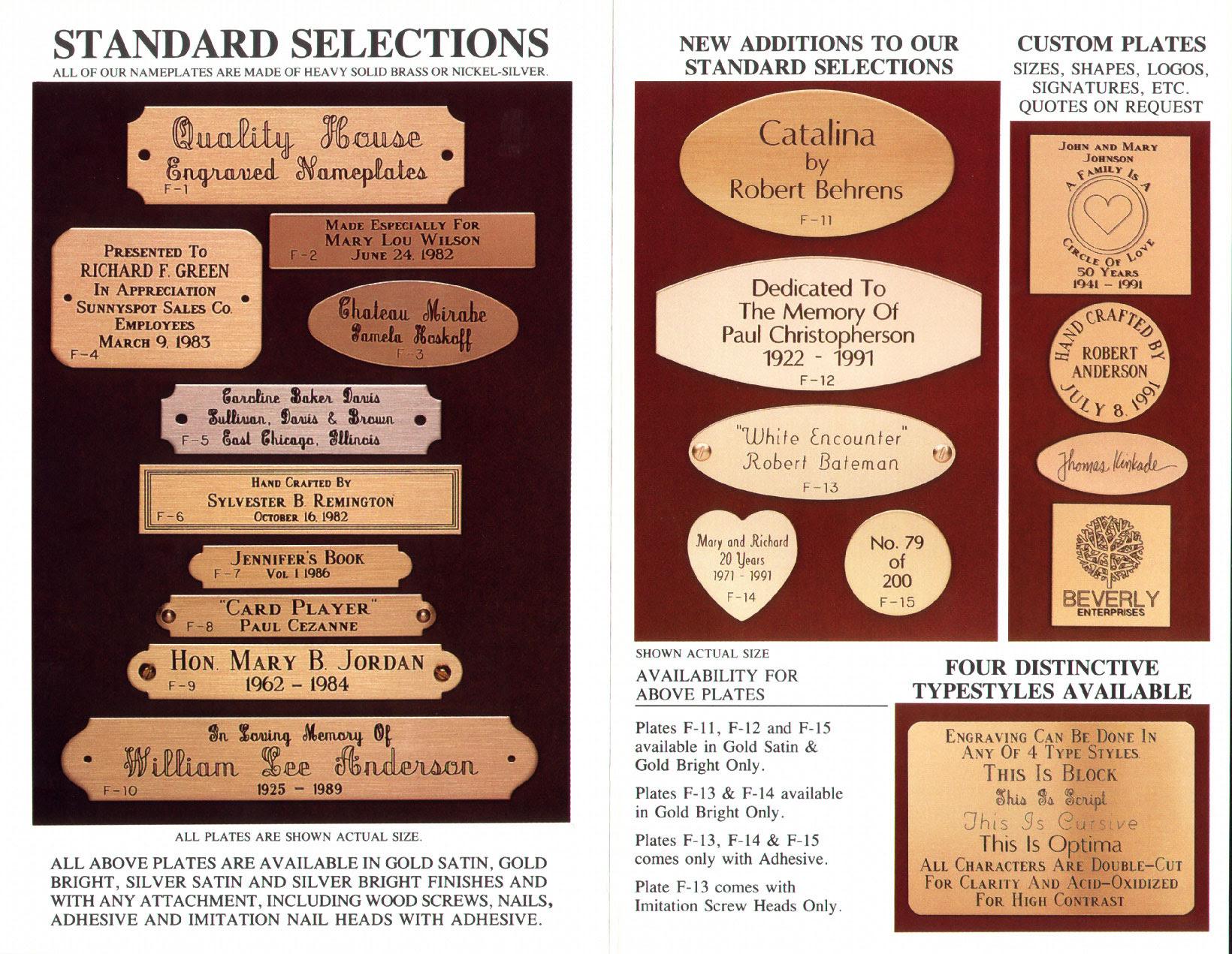 Brass Nameplates Monroespecialtycom