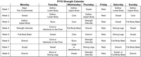 piyo workout calendar blog dandk