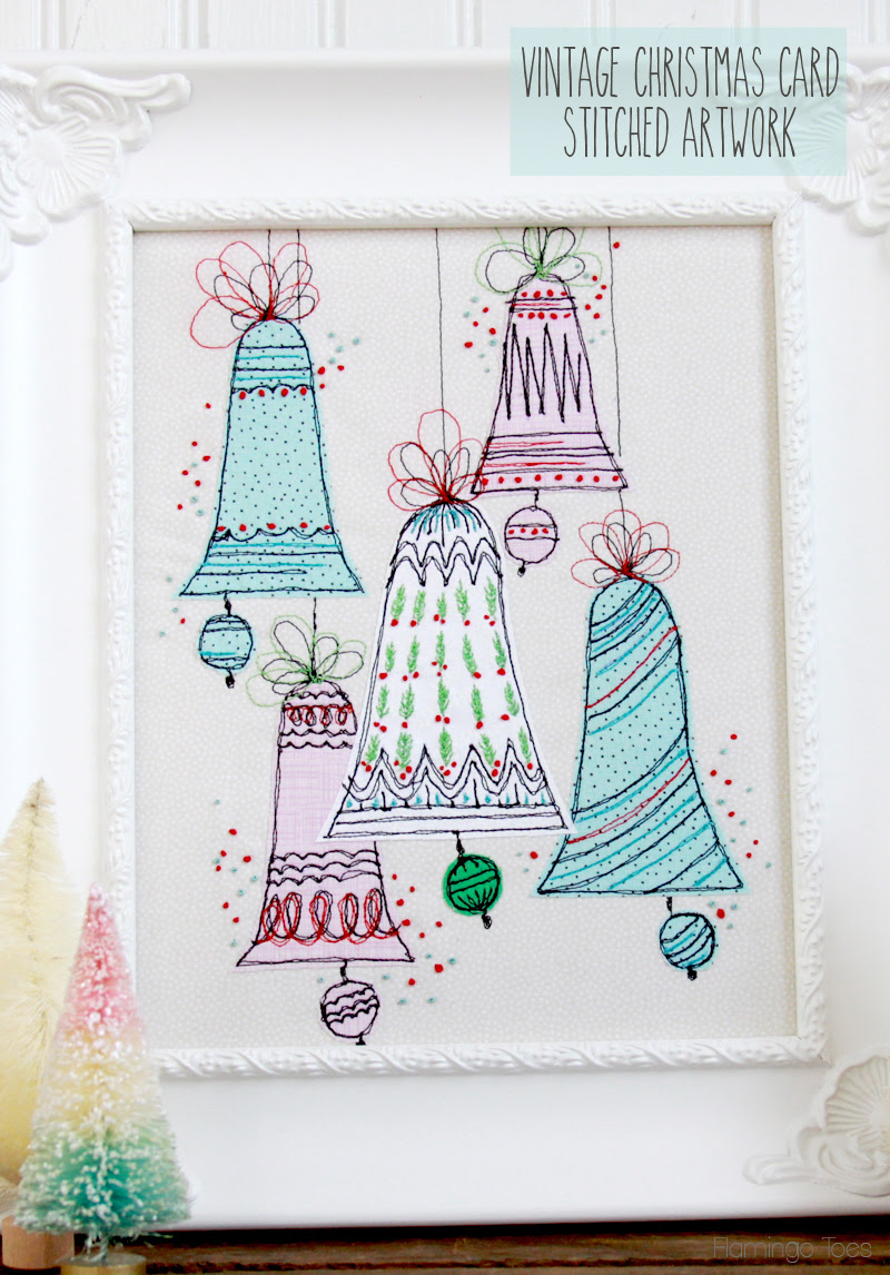 Vintage-Christmas-Card-Stitched-Artwork
