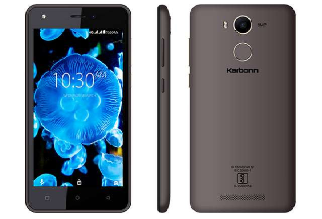 Karbonn K9 Kavach 4G with Fingerprint Sensor, Android 7.0 Launched at $79