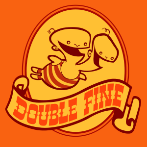The Double Fine logo, consisting of a two-head...