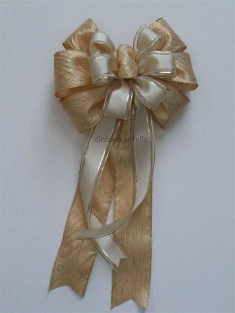 Ivory Gold Wedding Pew Bows Christmas Wedding Bows Church
