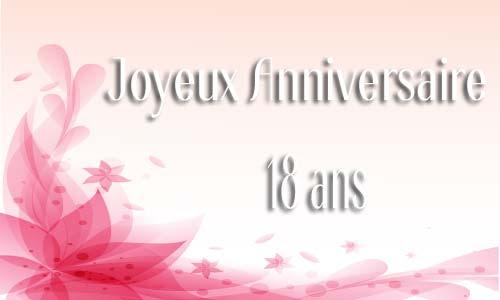 Carte Anniversaire Femme 18 Ans Virtuelle Gratuite à Imprimer