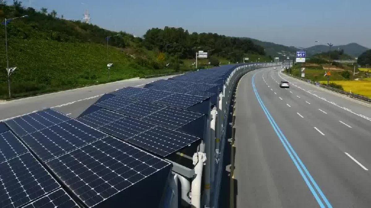 Inauguram uma ciclovia de 40 km coberta de painéis solares na Coreia do Sul