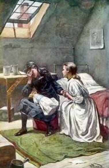 Becky The Maidservant Comforts Sara Crewe When She Is Orphaned And Penniless