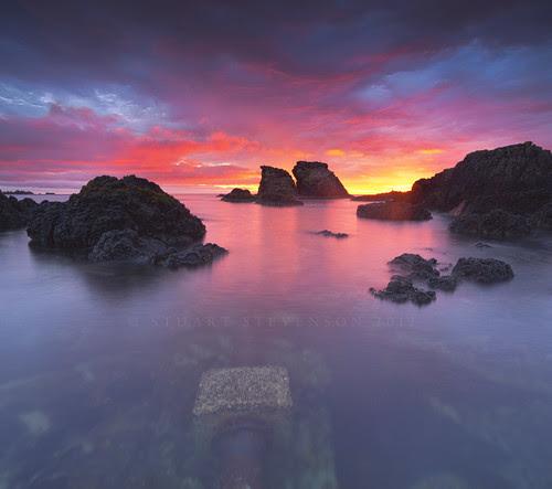 Firey morning by Stuart Stevenson