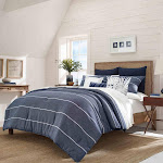 Nautica Candler Comforter Set, Full/Queen, Navy
